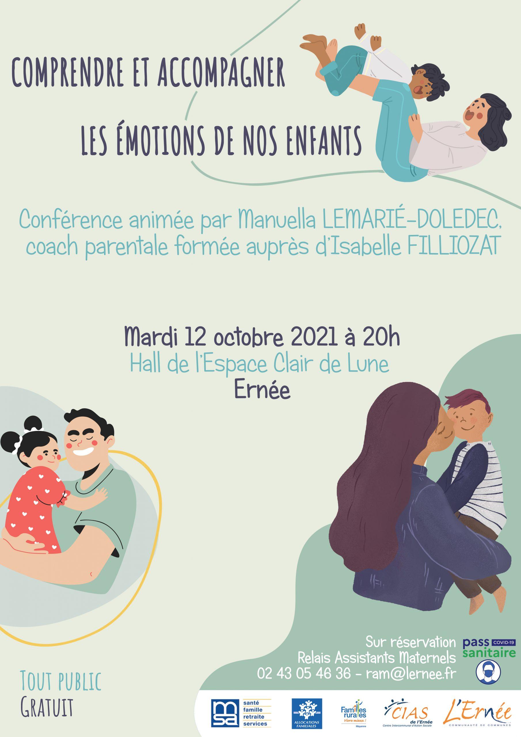 Conférence : Comprendre et accompagner les émotions de nos enfants